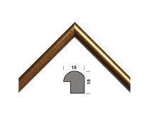 Рамка А4 210х297, золото, 15 мм